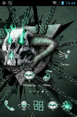Hell Skull android theme home screen