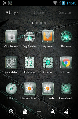 Hell Skull android theme application menu