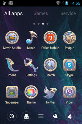 Lion android theme application menu