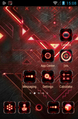 Dark Forge android theme home screen
