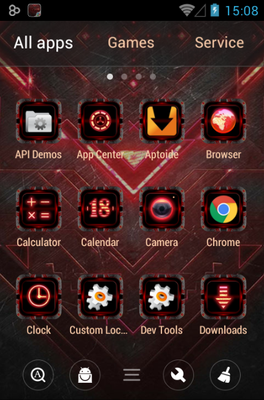 Dark Forge android theme application menu