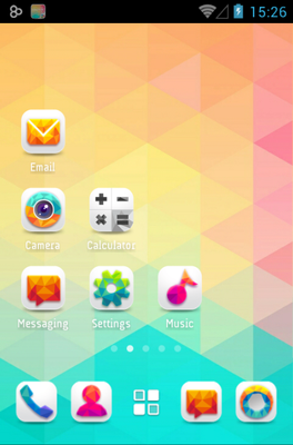 Colorful Life android theme home screen