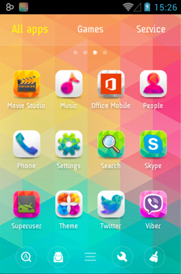 Colorful Life android theme application menu