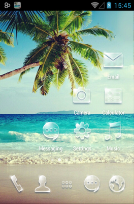 Summer android theme home screen