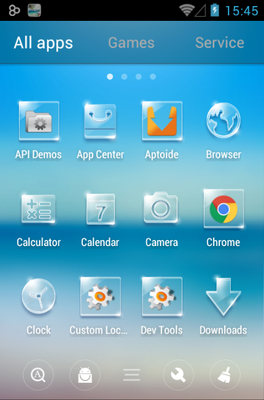 Summer android theme application menu