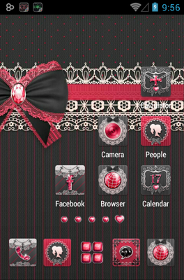 Gothic Lolita android theme home screen