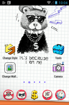 Doodle android theme
