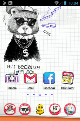 Doodle android theme home screen