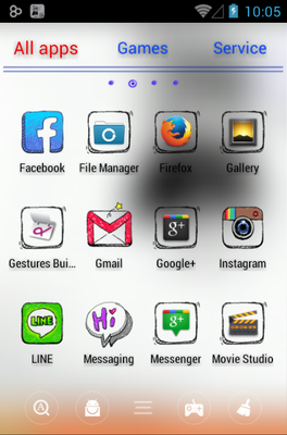 Doodle android theme application menu
