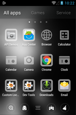Waiting For U android theme application menu