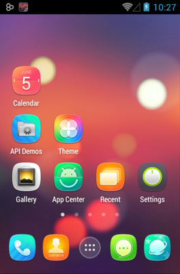 Ample android theme home screen