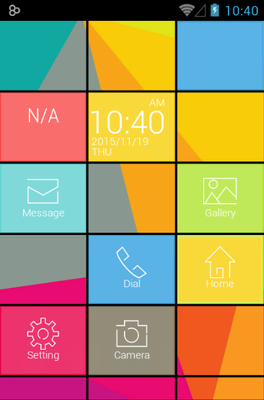 Cube android theme