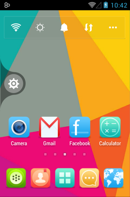 Cube android theme home screen