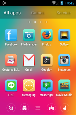 Cube android theme application menu