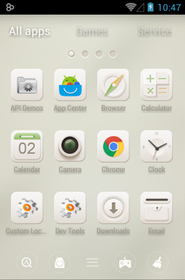 Soft Cream android theme application menu