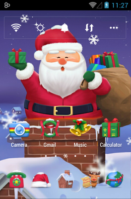 android theme 'Cuddly Santa'