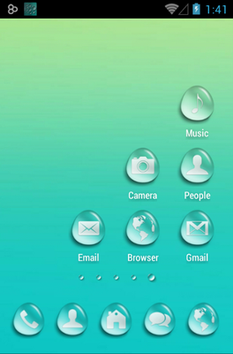 Water Drops android theme home screen