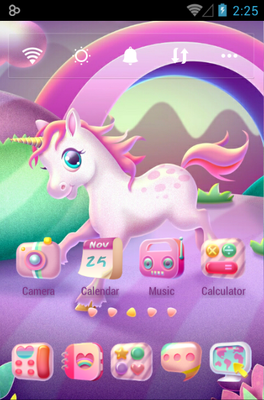 android theme 'Cartoon Unicorn'