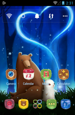 Bearabbit android theme home screen