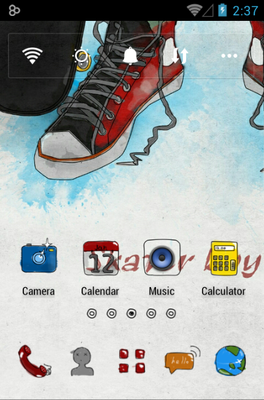 android theme 'Skater Boy'