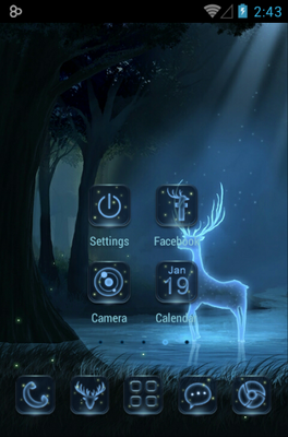 Deer android theme home screen