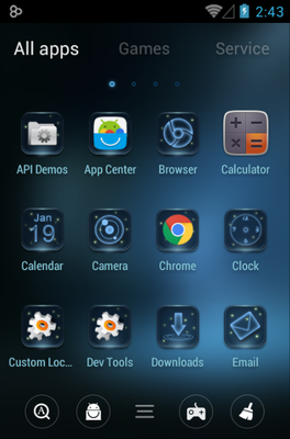 Deer android theme application menu
