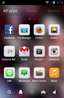 Flower android theme application menu