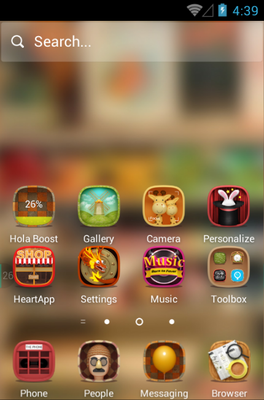 Hello 2015 android theme home screen