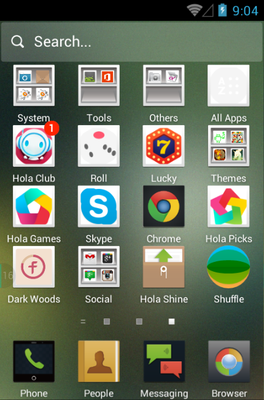 Sci & Tech Life android theme application menu