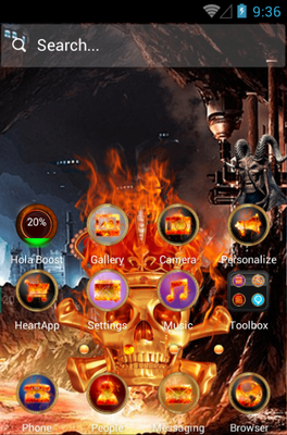 Skeletons android theme home screen