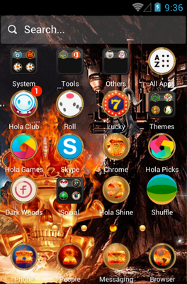 Skeletons android theme application menu