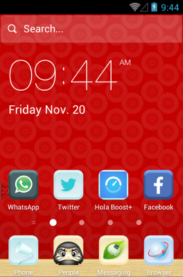 android theme 'Velvet Red'
