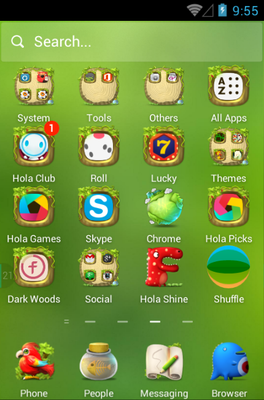 Dream Adventure android theme application menu