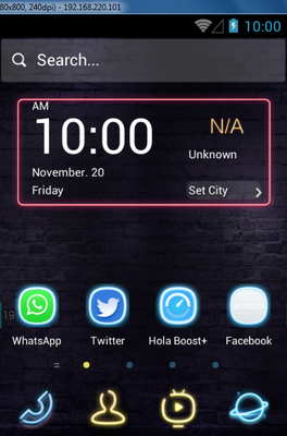 Neon Lights android theme