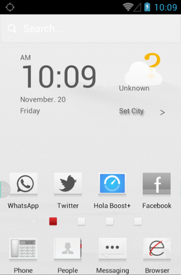 Cream White android theme