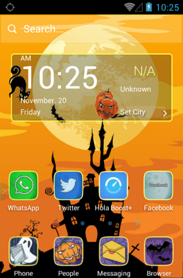 android theme 'Spooktacular'