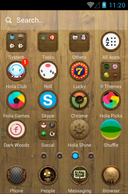 Steam Punk android theme application menu