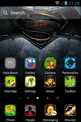 android theme 'The Dark Hero'