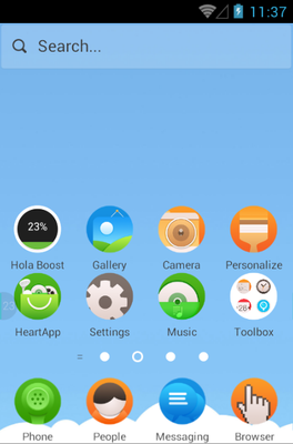 Picnic android theme home screen
