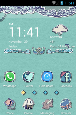 Alice in Paperland android theme