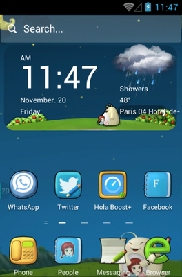 android theme 'Cute Baby'