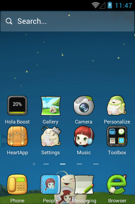 Cute Baby android theme home screen