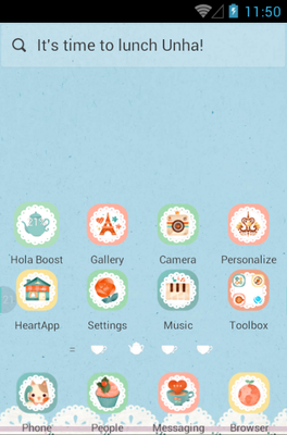 Afternoon Tea android theme home screen