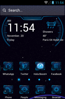 android theme 'Off to Space'