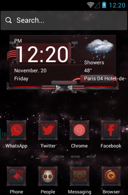 Monster Machine android theme