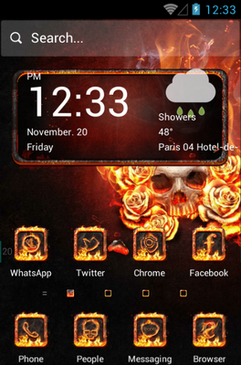 android theme 'The Flame Skull'