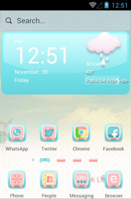 android theme 'Pink Love'