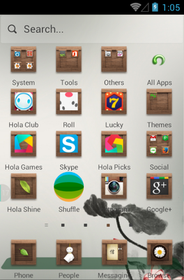 Remember android theme application menu