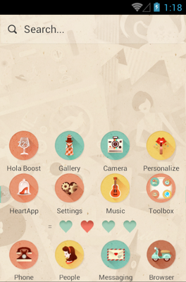 She&He android theme home screen