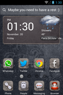 android theme 'Long Long Ago'